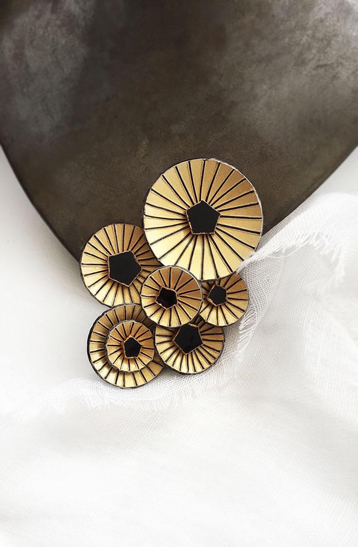 Broche KYOTO par Ciléa bijoux de créateur