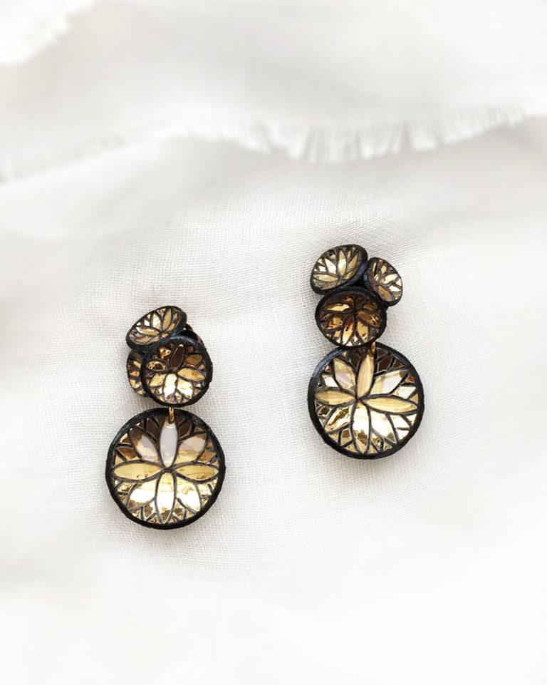 Boucles d'oreilles FUJI dorée Ciléa Bijoux