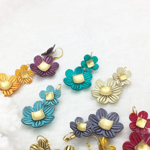 bijoux fantaisie résine haut de gamme fleuris et colorés Cilea paris