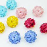 boucles oreilles fleurs multi couleurs geranium