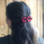 barrette fleurs anemone rouge